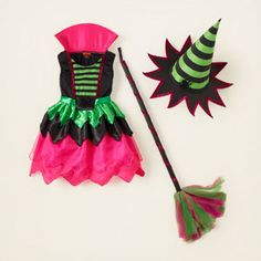 """The witch costume that sparked her idea.  """"Mama!  I know!  I will be a witch for Halloween!""""  I only hope the one I sewed will measure up."""