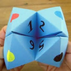 Image result for folded paper fortune game