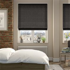 This charcoal blind has a smoky look about it, with a gently textured tone making it a touch or two lighter than jet.
