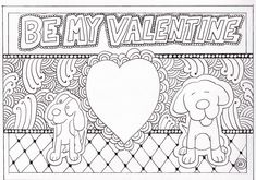 As part of the BE MY VALENTINE virtual gallery exhibit, we have some new coloring pages that you can use for valentines or special gifts for friends and loved ones. #dogart #Popart #Dogs #ColoringPages #Coloring #KidsActivities Valentine Coloring Pages, Binky, Cartoon Dog, Be My Valentine, Dog Art, Exhibit, Gifts For Friends, Special Gifts, Activities For Kids