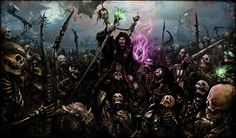 Iunn the Necromancer, Piotr Uzdowski on ArtStation at https://www.artstation.com/artwork/2k1kJ