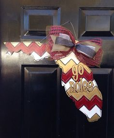 Florida State GO NOLES Doorhanger by PaintedPriss on Etsy, $40.00