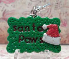 Christmas Dog Santa Tags Unique Dog Tag Santa Paws Santas Little Helper by DakotaAshleyDesigns http://etsy.me/15uYThI  via @Etsy, $8.00