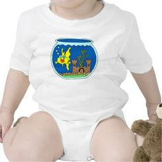 Infant Creeper, White Gold Fish Creepers, Goldfish, Onesies, Infant, White Gold, Kids, Baby, Clothes, Fashion