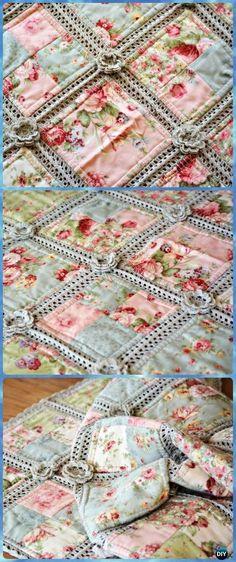 Crochet Fabric Quilt Blanket Free Pattern - Crochet Crochet Summer Blanket Free Patterns