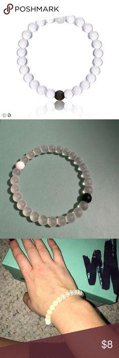 Original lokai bracelet Clear beads with black and white Loaki bracelets. Lokai Jewelry Bracelets