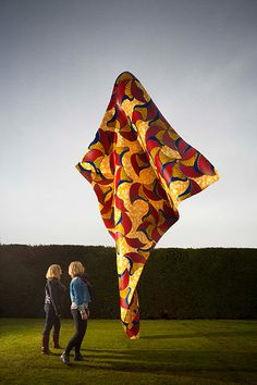 Wakefield, Yorkshire Sculpture Park: Fabric-ation, the first major UK survey of works by Yinka Shonibare, takes place outdoors and in three of Yorkshire Sculpture Park's indoor galleries. The show features more than 30 works, including sculpture, film, photography, painting and collage, with many never before seen in the UKPhotograph: Wind Sculpture, 2013, by Yinka Shonibare. Jonty Wilde. Courtesy of Stephen Friedman Gallery, London and James Cohan Gallery, New York