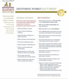 """Students with mentors are 46% less likely to use illegal drugs or abuse alcohol""      http://www.coj.net/getattachment/Mayor/Mayor-s-Mentors/MentoringWorksFactSheetFINAL.pdf.aspx  #Mentor #Mentoring #Education #Students #Help #Volunteer #Mayor"