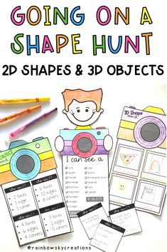 Identifying Shapes and Objects (Grade Grade Distance Learning Project Based Learning, Student Learning, Teaching Math, Early Learning, Teaching Ideas, Math Crafts, Craft Activities, Early Years Maths, Types Of Learners