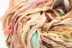 Reclaimed Sari Silk Ribbon: Vintage Tea Blend from DGY