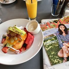 A bowl of fresh fruit and a read of our favourite magazine is always the best start to the weekend! #freshfruit #stylemagazines #harveysbarandbistro #jamesstreet #breakfast #nutritious #delicious  via FASHION TRENDS on INSTAGRAM -Celebrity  Fashion  Haute Couture  Advertising  Culture  Beauty  Editorial Photography  Magazine Covers  Supermodels  Runway Models