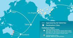 Air Tahiti Nui flight route map