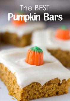 The Best Pumpkin Bars