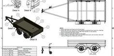 TANDEM BOX UTILITY TRAILER - trailer PLANS - Build your own trailer - www.trailerplans.com.au