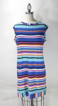 Trina Turk Sleeveless Zinnia Stripe Dress Size L