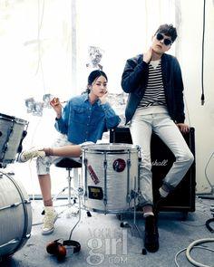 Korea Model모델 /Idol아이돌: 張基勇 - Vogue girl 4月號