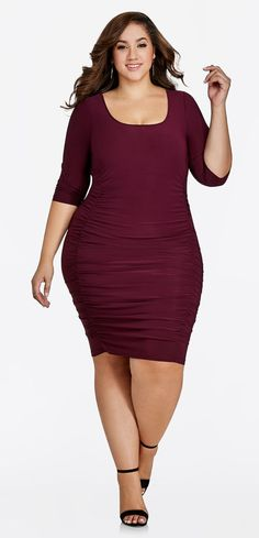 Plus Size BodyCon Dress - Plus Size Party Dress