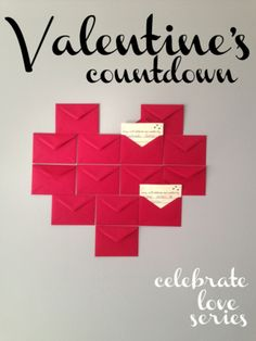 Countdown to Valentine's Day by opening an envelope everyday leading up to the holiday. Day Countdown, Valentine Activities, Diy Banner, Valentines For Kids, My Guy, Holidays And Events, Holiday Crafts, Decor Ideas, Gift Ideas