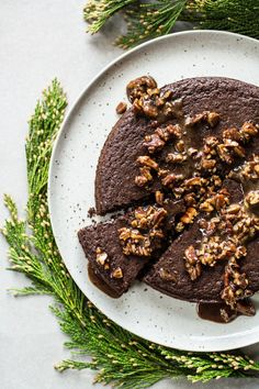 Chocolate Cinnamon Cake with Sweet Pecan Glaze | Edible Perspective | Bloglovin'
