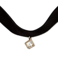 Women's Choker Necklace With Zircon Stone-Gold : Target