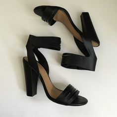 Strappy Black Heeled Sandal Strappy black heels, great for going out! Worn handful of times Shoes Heels