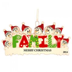 Image result for family christmas ornaments