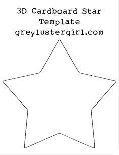 3D Cardboard Star Template