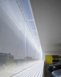 Translucent, Breathable Facades: 8 Tips for Incorporating Metal Meshes into Your Building,Car Park One / Elliott + Associates Architects. Architecture Design, Facade Design, Beautiful Architecture, House Design, Building Architecture, Installation Architecture, Car Park Design, Parking Design, Building Skin