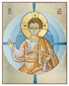 Emmanuel 2 Religious Icons, Religious Art, Paint Icon, Russian Icons, Mary And Jesus, Byzantine Icons, Catholic Art, Orthodox Icons, Sacred Art