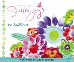 Kathy Davis - Scatter Joy Year-In-A-Box Calendar Celebrate the year with Kathy Davis' trademark watercolor arts and hand lettering positive messages. Calendar 2017, Desk Calendars, Positive Messages, Getting Organized, Watercolor Art, Hand Lettering, Joy, Holiday, Shopping