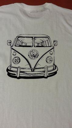 vw split window bus Tshirt by JeffsWoodVise on Etsy, $15.00