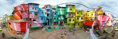 A painting project has brought art to the Santa Marta favela in Rio de Janeiro.