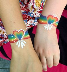 Rainbow Face Paint, Christmas Face Painting, Hand Doodles, Eye Makeup Designs, Face Paint Makeup, Arm Art, Heart Face, Painting Tattoo, Face Painting Designs