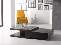 Wenge Color Modern Coffee Table