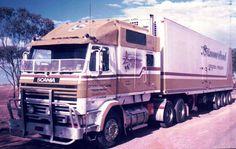 Big cab Scania in Austrealia Show Trucks, Hot Rod Trucks, Big Rig Trucks, Truck Transport, Old Lorries, Freightliner Trucks, Old Wagons, Road Train, Trucks And Girls