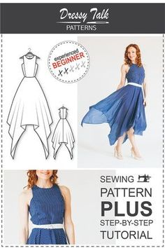 PDF Sewing Pattern for Women Dress Sewing by DressyTalkPatterns                                                                                                                                                                                 More