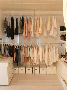 .white, pink or beige ikea boxes for things like, hats, gloves, scarfs, flat sandals.