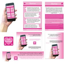 App design that I created to support domestic violence, which is disguised as a girly clothing app to keep it secret from anyone!