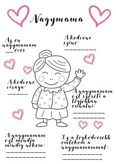 Anyák napi színező - Panda kreatív Grandmother's Day, Mom Day, Diy Mother's Day Crafts, Mother's Day Diy, Happy Brithday, Mothers Day Crafts For Kids, Grandparents Day, Mother And Father, Preschool Activities