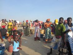 Binnenkomst van de vis in Tanji #Gambia