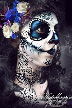Sugar skull day of the dead Halloween face paint
