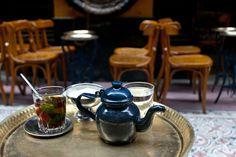 Egyptian tea with fresh mint!