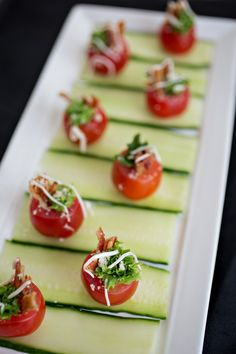 Aww mini BLT Cherry Tomatoes - perfect finger food for those summer events…
