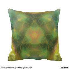 Strange colorful pattern pillows