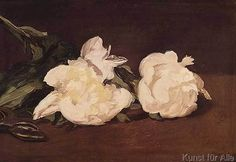 Edouard Manet - Branch of White Peonies and Secateurs, 1864