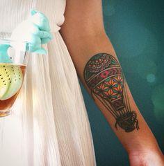 Balloon tattoo / tea tattoo