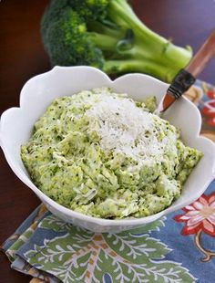 Asiago Mashed Potatoes and Broccoli! This is the perfect side dish for cook outs! Healthy comfort food, what could be better than that?   the comfort of cooking