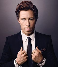 Shaun White photographed by Art Streiber - Epic Life- i know everyone thinks of his WILD red hair, but he grew up nice :D