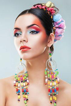 Beauty of flamenco on behance candy costume in 2019 макияж, яркий макияж, с Beauty Art, Beauty Skin, Beauty Room, Art Beauté, Candy Costumes, Beauty Makeup Photography, Portraits, Beauty Hacks Video, Happy Women