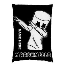 FORTNITE MARSHMELLO STANDARD SIZE PILLOW CASE Marshmello Alone, Marshmello Dj, Custom Pillow Cases, Throw Pillow Cases, Custom Pillows, 100 Fun, Cool Masks, Cake Stuff, Game R